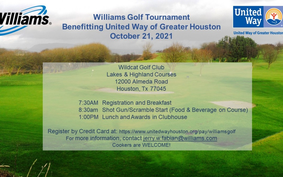 Williams United Way Golf Tournament HTX – Registration LIVE