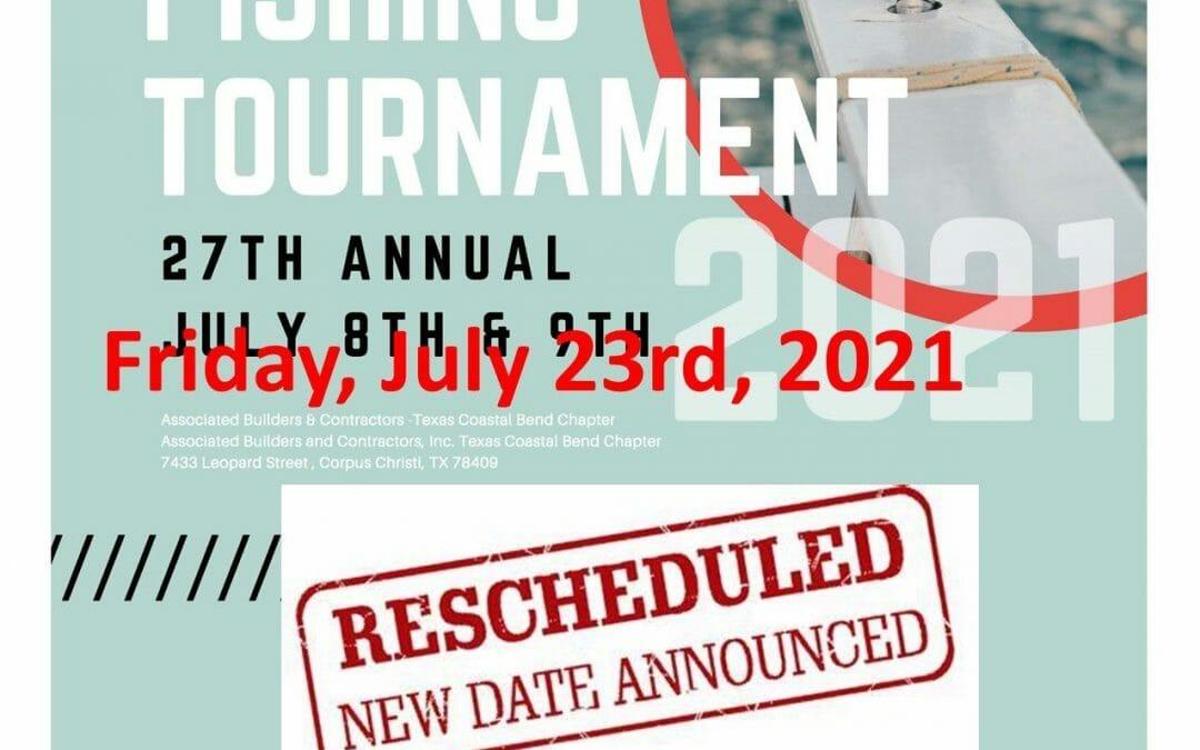 ABC Texas Coastal Bend Fishing Tournament(Rescheduled July 23rd)