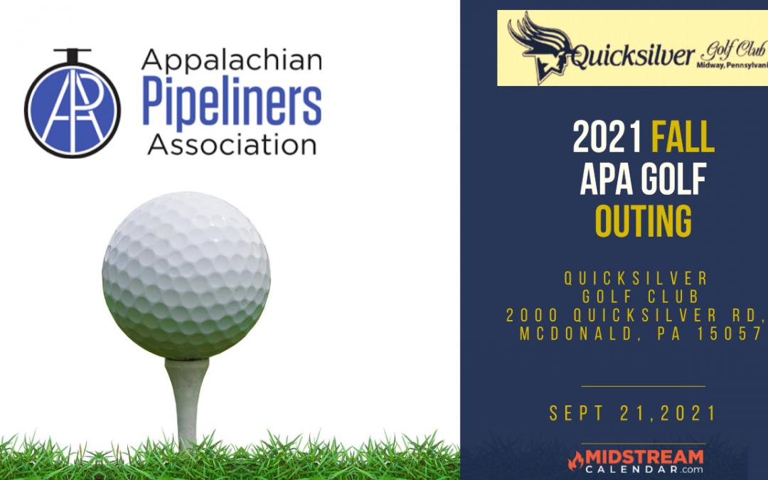 Appalachian Pipeliners Association (APA) Fall Golf Outing at Quicksilver Golf Club