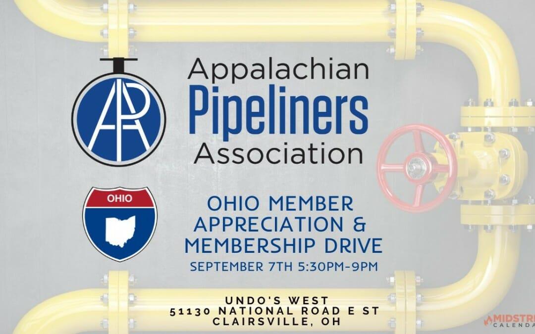Appalachian Basin Association of Pipeliners Ohio Member Appreciation & Membership Drive