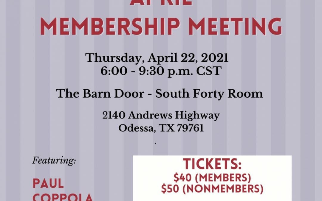 Permian Basin Pipeliners Association Monthly Meeting-In Person