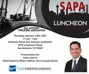San Antonio Pipeliners Luncheon Jan 2021